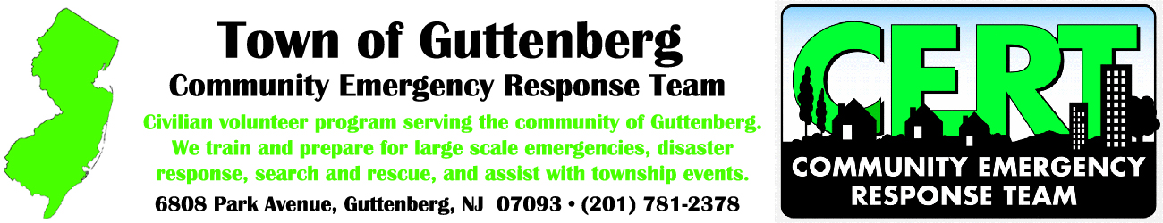 Guttenberg Community Emergency Response Team (C.E.R.T.)